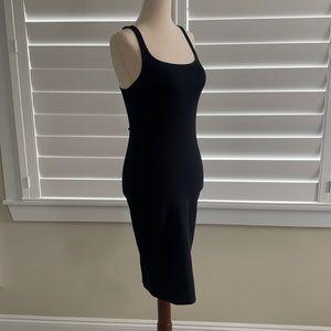 Zara little black dress body con size M like new!